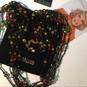 Joan Rivers Black/Gold Multicolor layer necklace